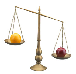 Comparing chiropractors and medical doctors is like trying to compare apples and oranges.